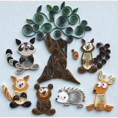 Quilling Forest Buddies Kit lets you create adorable woodland creatures, complete with a tree and an acorn for scrapbook layouts. This kit contains quilling paper, wiggly eyes and instructions to crea