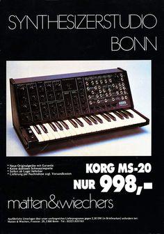 KORG MS-20 Anzeige 1979