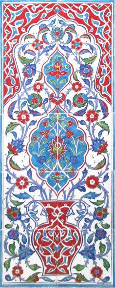 Iznik Panels Manufacturer, We ship Iznik Panels to Worldwide. Custom design Iznik Panels are available. Send us your own design and We will make it in Panel Turkish Tiles, Turkish Art, Tile Murals, Panel Art, Mosaic Art, Ceramic Art, Art Forms, Custom Design, Objects