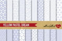 Hand Draw Patterns Set in Violet:: PrintablePatterns with spots, circles, swirls, leafs, stripes, dots, flowers, chevron & more. You get 20 High Quality Sheets::JPG files inLetter size with300 dpi jpg, for perfect printing or digital use. Theseare great for scrapbooking, crafts, party decor, DIY projects, blogs, stationery& more. All patterns are original and copyrighted by All is Full of Love