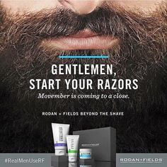 Guys it is time to leave No Shave November behind and get the smoothest shave ever with Rodan+Fields BEYOND THE SHAVE. Message me for details on getting this gift packaged bundle before it sells out! Ask me how to save 10% and get free shipping!!!