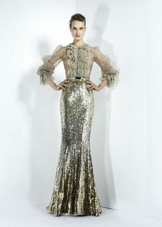 Metallic wedding gown. Zuhair Murad - Ready-to-Wear - Fall-winter 2011-2012