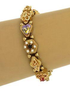 VINTAGE 14K Antique Jewellery, Jewellery Designs, Gold Jewelry, Jewlery, Vintage Jewelry, Handmade Jewelry, Mourning Jewelry, Royal Jewels, Diamond Bangle