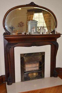1904 - Hattiesburg, MS - $295,000 - Old House Dreams Stove Fireplace, Fireplace Mantels, Fireplaces, Fireplace Ideas, Art Nouveau Architecture, Interior Architecture, Exterior Design, Interior And Exterior, Oak Mantel