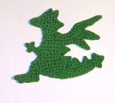 Crochet dragon applique free pattern