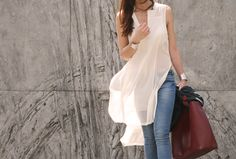 wispy white and jeans