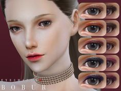 new eyeshadows for female 12 colors HQ I hope you like it  Found in TSR Category 'Sims 4 Female Eyeshadow'