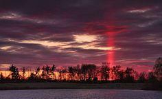 sun pillar image =20 Incredible And Rare Natural Phenomena – EMGN
