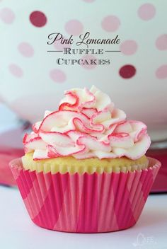 Super moist, lemony cupcakes studded with bits of delicious raspberry - a flavor match made in heaven! Oh and the crème de la crème? A super fun, crazy good lemon buttercream ruffles tinged with pink (or any color you choose).