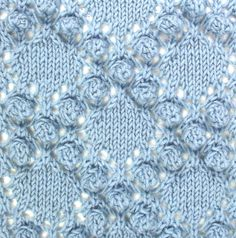Diamonds and Bobbles can be found in the Bobbles & Slip Stitches category.  It is a big, bold stitch, sure to get attention, but you do have to like making bobbles.