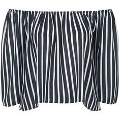 Sally Pinstripe Bardot Top by Absence of Colour
