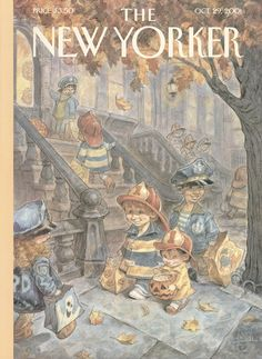 """The New Yorker - Monday, October 29, 2001 - Issue # 3957 - Vol. 77 - N° 33 - Cover """"Local Heroes"""" by Peter de Sève"""