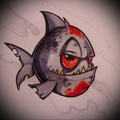Drawing Sketches Sketchbooks Illustrators Ideas – Graffiti World Fish Drawings, Cool Drawings, Drawing Sketches, Drawing Ideas, Drawing Drawing, Graffiti Drawing, Graffiti Art, Tatto Old, Geniale Tattoos