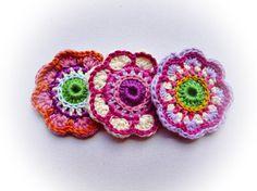 Crochet flowers multicolour