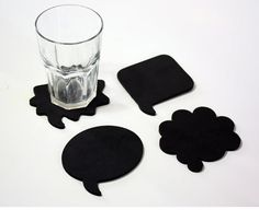 Coasters for Reception area - tables - can be given to guest at the end as favours Foam Crafts, Crafts To Do, Diy Crafts, Felt Coasters, Diy Coasters, Sous Bock, Tea Coaster, Crochet Bikini Pattern, Diy Clock