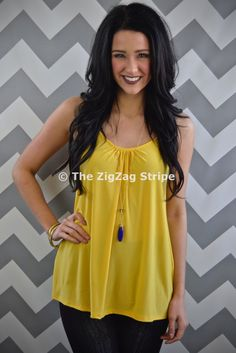 Buttercup Spaghetti Tank – The ZigZag Stripe. Save 10% with coupon code ZZS72, and shipping is free! zigzagstripe.com