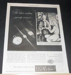 1946 LORD/LADY ELGIN WATCH AD Grandmother/Granddaughter Ben Stahl art | eBay