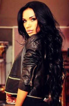 long black hair.. love