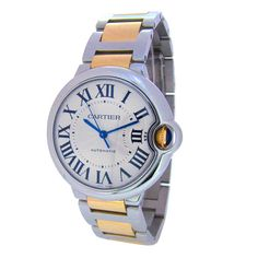 CARTIER Stainless Steel and Yellow Gold Ballon Bleu Automatic Mid-Sized Wristwatch