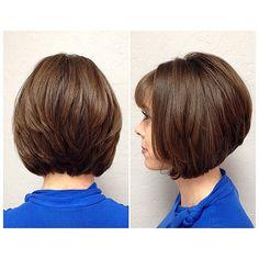 Sleek stacked A-line bob  #MincSalon  Cut/Style by Analee