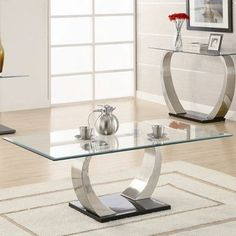 Delicieux Laura 3 Pc. Coffee Table Set #F3087 PDX   Organizing   Pinterest   Coffee,  PC And Glass