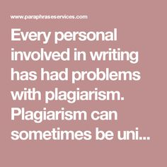 Every personal involved in writing has had problems with plagiarism. Plagiarism can sometimes be unintentional, and it is important to reread your content and rewrite it so you can correct plagiarism issues. Once you are finished you will see that your content has a better flow and that your sentences are structured better.