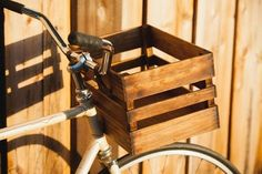 diy wood bike basket