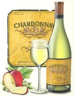 Embellish your home or office with this elegant Chardonnay Wine! This is created by Dwight Kirkland who specializes in photo-realistic illustrations… Chardonnay Wine, Food Clips, Wine Art, Wine Cheese, In Vino Veritas, Burgundy Wine, Wine Time, Sparkling Wine, Refreshing Drinks