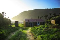 The last hut on the Heaphy Track