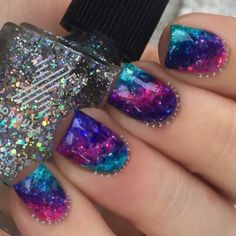 Absolutely love glitter, especially these galaxy looking glitter nails by @gotnail   Mess No More!® was used to clean up any excess paint and complete this flawless look.  You can find it, as well as all of our other products at www.minimanimoo.com with FREE SHIPPING WORLDWIDE!!!