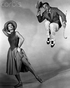 "Gene Kelly and ballet dancer Leslie Caron in the musical ""An American in Paris"" Hooray For Hollywood, Golden Age Of Hollywood, Vintage Hollywood, Classic Hollywood, Shall We Dance, Lets Dance, My Fair Lady, Gene Kelly Dancing, Leslie Caron"
