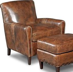 brown leather club chair - Google Search