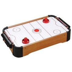 Baby #table Top Mini Air #hockey #table #pushers Pucks Toy Family Game