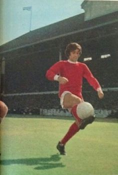 George Best of Man Utd controls the ball at White Hart Lane in 1967.