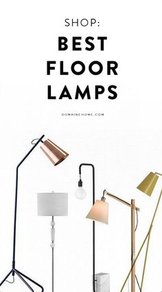 Cool floor lamps - 15 Modern Floor Lamps That Prove Great Style Doesn't Come at a Price Unique Floor Lamps, Decorative Floor Lamps, Oakland House, Brass Lamp, Living Room Flooring, Pipe Lamp, Lamp Sets, Lamp Design, Home Decor Accessories