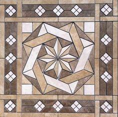 36-1-16-034-Tile-Medallion-inlay-Daltile-039-s-Affinity-tile-series