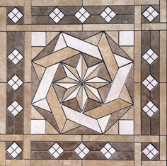 36-1-16-034-Tile-Medallion-inlay-Daltile-039-s-Affinity-tile-series
