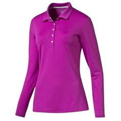 Puma Golf Ladies Long Sleeve Polo Shirts Features: Five button placket dryCELL moisture-wicking fabric Embroidered PUMA Cat on left chest 18 Hole woven label on right side seam 90% Polyester 6% Modal Cotton 4% Elastane http://www.MightGet.com/january-2017-11/puma-golf-ladies-long-sleeve-polo-shirts.asp