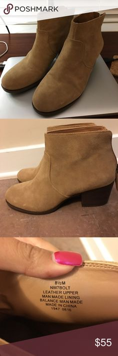 Nine West Leather Booties! Worn once! Not really my style. Reasonable offers always accepted! Nine West Shoes Ankle Boots & Booties