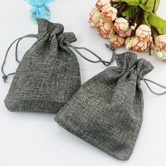 Gift Packaging Bags 50pcs 7*9cm Gray Color Jute Bag Drawstring Burlap Gift Candy Beads Bags For Storage/ Wedding Decoration - ICON2 Luxury Designer Fixures  Gift #Packaging #Bags #50pcs #7*9cm #Gray #Color #Jute #Bag #Drawstring #Burlap #Gift #Candy #Beads #Bags #For #Storage/ #Wedding #Decoration
