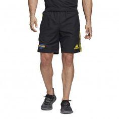 Short Rugby Hurricanes 2020 / adidas Super Rugby, Adidas Logo, Warrior Spirit, Highlanders, Adidas Shorts, Keep Your Cool, Get In Shape, Black N Yellow