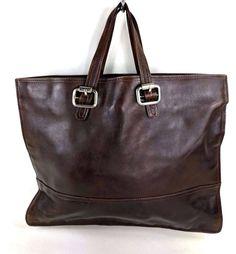 a2b9bcc3c7 Articoli simili a Bottega Veneta borsa vintage grande shopper shopping bag  marrone pelle grande bag sac cuir su Etsy