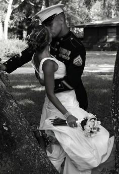 Brides dream about having the perfect wedding day, however for this they require the ideal wedding outfit, with the bridesmaid's dresses complimenting the brides dress. These are a number of ideas on wedding dresses. Perfect Wedding, Dream Wedding, Wedding Day, Wedding Ceremony, Army Wedding, Wedding Album, Wedding Venues, Military Love, Military Couples