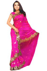 Maroon Bollywood Sequin Saree Sari Bellydance Curtain Fabric VENTRE DANSE KAFTAN