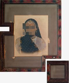 nandan ghiya, deFacebook project, '#61 download error', 2011  acrylic on photographs & wooden frames
