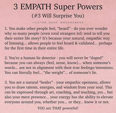 Empath Traits, Intuitive Empath, Empath Abilities, Psychic Abilities, Highly Sensitive Person, Mental And Emotional Health, Mind Body Soul, Spiritual Awakening, Positive Affirmations