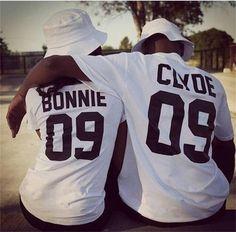 Bonnie Clyde 09 Bonnie Clyde Couples Shirt Set Matching
