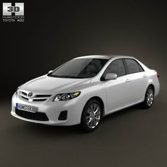 Toyota Corolla LE 2012 3d model from humster3d.com. Price: $75