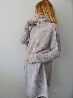 Chunky ,Oversized women knit sweater. Slouchy/Bulky/Loose sweater.  Women knit loose fit sweater.