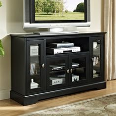 Shop Walker Edison  W52C32 Highboy 52-in TV Stand at The Mine. Browse our tv stands, all with free shipping and best price guaranteed.
